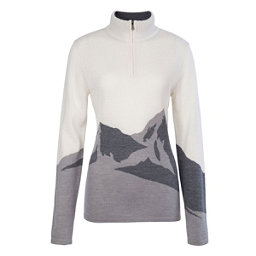 Meister Annabelle Womens Sweater, Winter White-Pearl Gray, 256