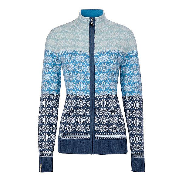 Meister Rose Zip Womens Sweater, Denim-Winter White-Robin-Glaci, 600