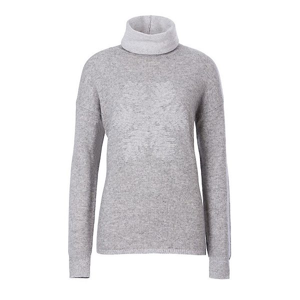 Meister Sofia Womens Sweater, Pearl Gray Heather-Winter Whit, 600