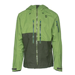 Scott Explorair 3L Mens Shell Ski Jacket, Leaf Green-Alpine Green, 256
