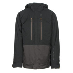 Scott Vertic 2L Mens Insulated Ski Jacket, Black-Earth Grey, 256