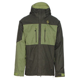 Scott Ultimate Dryo Mens Insulated Ski Jacket, Alpine Green Heather-Leaf Gree, 256
