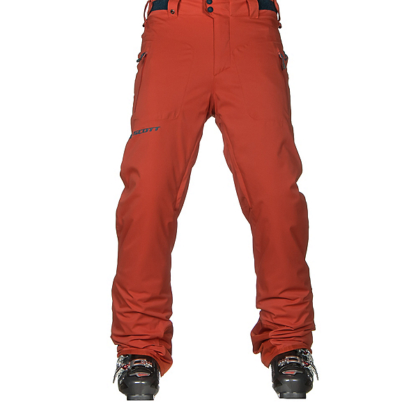Scott Ultimate Dryo Mens Ski Pants, Burnt Orange, 600