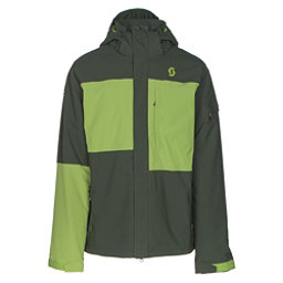 Scott Terrain Dryo Mens Insulated Ski Jacket, Alpine Green Oxford-Leaf Green, 256