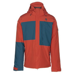 Scott Terrain Dryo Mens Insulated Ski Jacket, Burnt Orange-Eclipse Blue Oxfo, 256