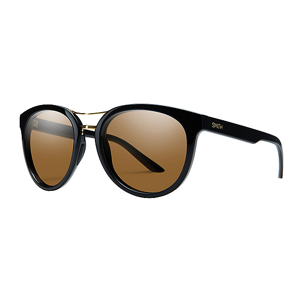 Smith Bridgetown Polarized Womens Sunglasses, Black Chromapop Polarized Brown, 600