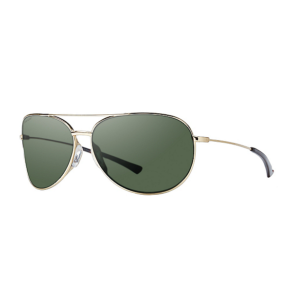 Smith Rockford Slim Polarized Womens Sunglasses, Gold-Polarized Gray Green, 600