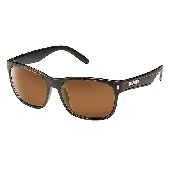SunCloud Dashboard Sunglasses, Blackened Tortoise-Brown Polarized, 600