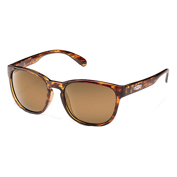 SunCloud Loveseat Polarized Womens Sunglasses, Tortoise-Sienna Mirror Polarized, 600
