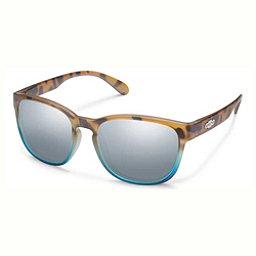 SunCloud Loveseat Polarized Womens Sunglasses, Matte Tortoise Blue Fade-Silver Mirror, 256