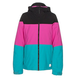 O'Neill Coral Girls Snowboard Jacket, Teal Blue, 256
