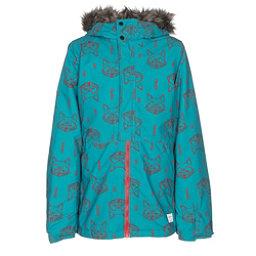 O'Neill Radiant w/ Faux Fur Girls Snowboard Jacket, Teal Blue, 256