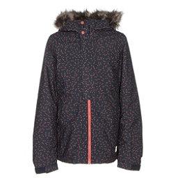 O'Neill Radiant w/ Faux Fur Girls Snowboard Jacket, Blue Aop, 256