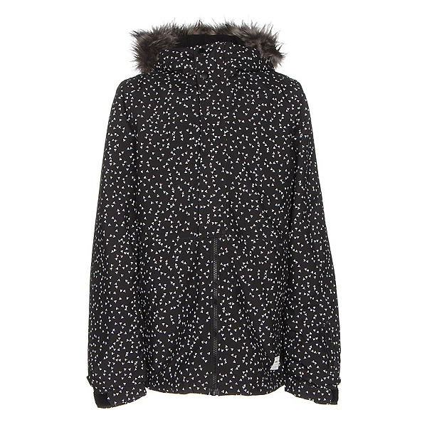 O'Neill Radiant w/ Faux Fur Girls Snowboard Jacket, Black Aop W-White, 600