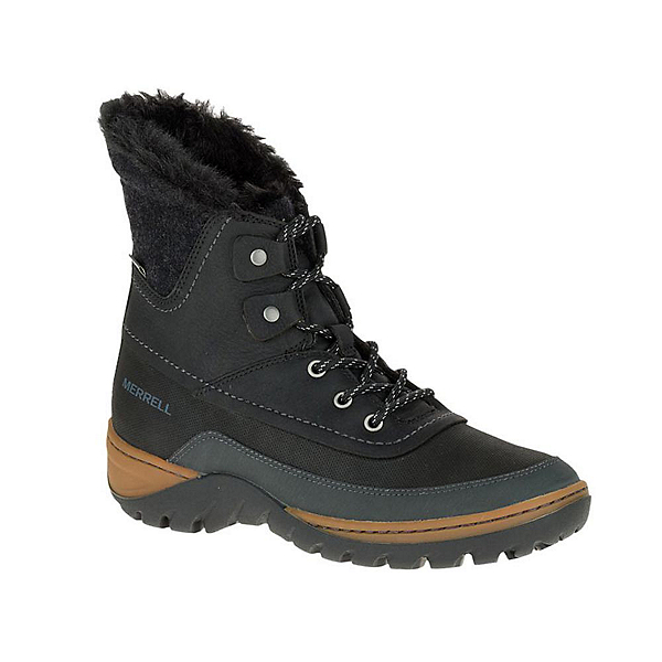 Merrell Sylva Mid Lace Waterproof Womens Boots, Black, 600