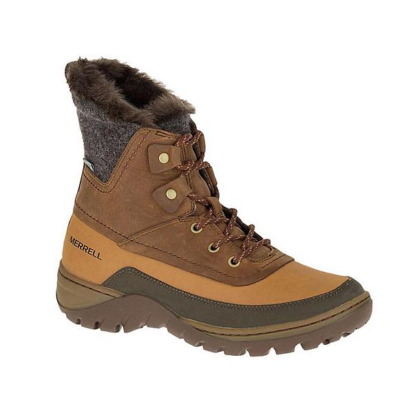 Merrell Sylva Mid Lace Waterproof Womens Boots, Merrell Tan, 600