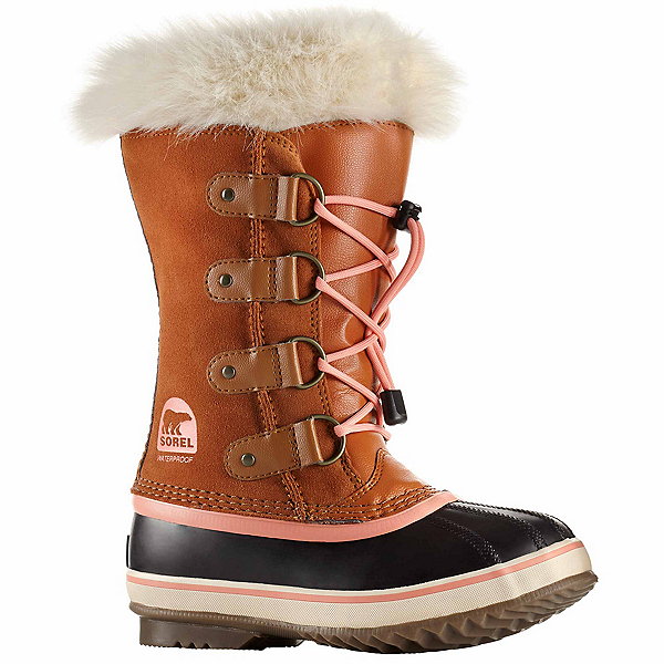 Sorel Youth Joan Of Arctic Girls Boots, Caramel-Summer Peach, 600