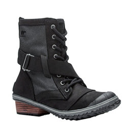 Sorel Slimboot Lace Womens Boots, Black-Dark Grey, 256