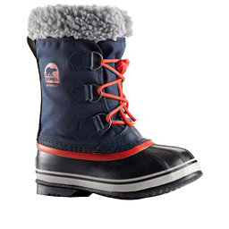 Sorel Yoot Pac Boys Boots, Collegiate Navy-Sail Red, 256