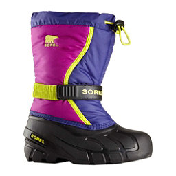Sorel Flurry Girls Boots, Grape Juice-Bright Plum, 256
