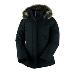 Obermeyer Tuscany Petite w/Faux Fur Womens Insulated Ski Jacket, Black, 256