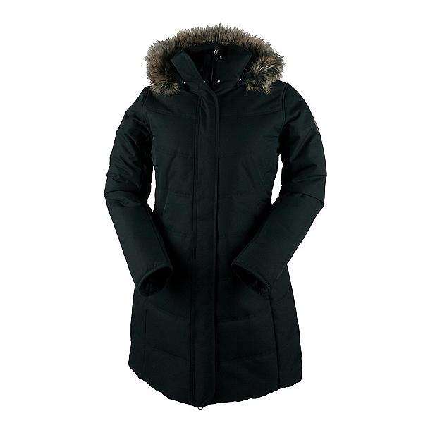 Obermeyer Tuscany Parka w/Faux Fur Womens Insulated Ski Jacket, Black, 600