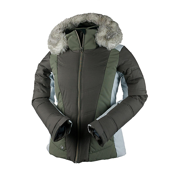 Obermeyer Verbier w/Faux Fur Womens Insulated Ski Jacket, Driftwood, 600