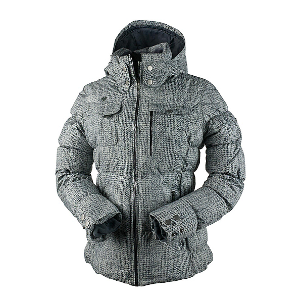 Obermeyer Leighton Womens Insulated Ski Jacket, Mini Tweed, 600