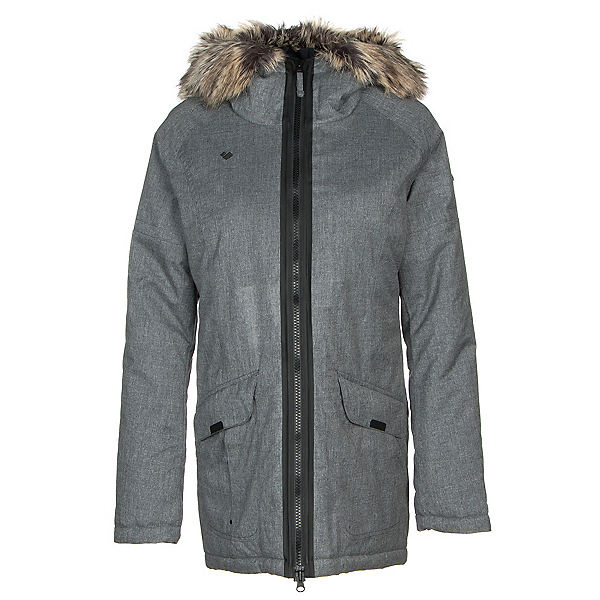 Obermeyer Alexa Parka w/Faux Fur Womens Jacket, Light Heather Gray, 600