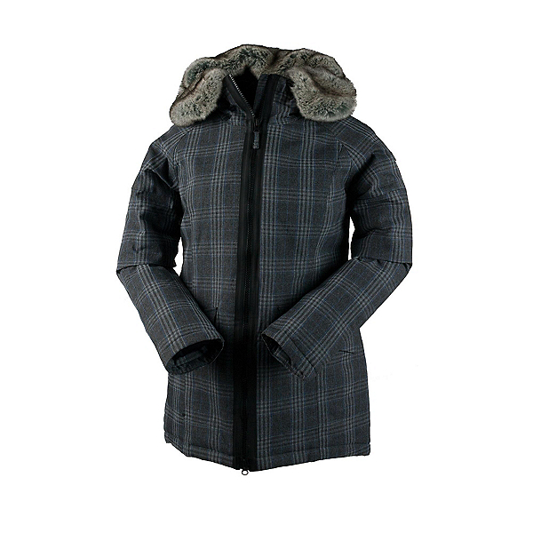 Obermeyer Alexa Parka w/Faux Fur Womens Jacket, Plaid Heather, 600
