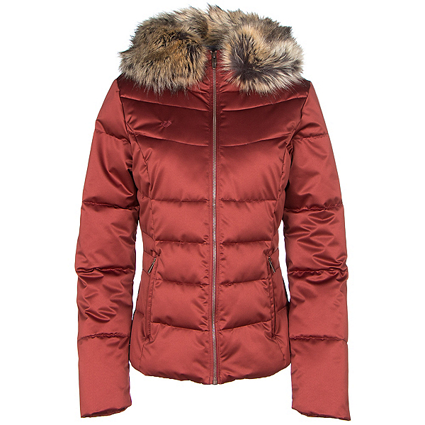 Obermeyer Bombshell w/Faux Fur Womens Insulated Ski Jacket, Copper Beach, 600