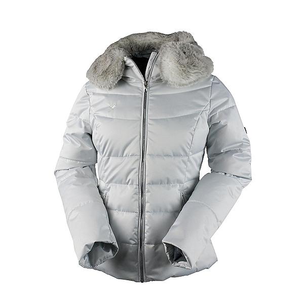 Obermeyer Bombshell Petite w/Faux Fur Womens Insulated Ski Jacket, Ceramic, 600