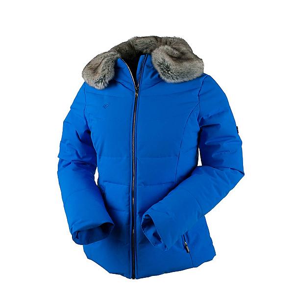 Obermeyer Bombshell Petite w/Faux Fur Womens Insulated Ski Jacket, Stellar Blue, 600