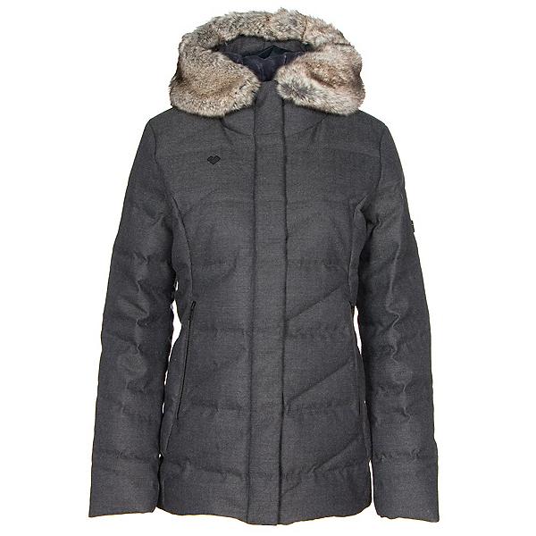 Obermeyer Bombshell Parka w/Faux Fur Womens Insulated Ski Jacket, Herringbone, 600