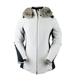 Obermeyer Siren Petite w/Faux Fur Womens Insulated Ski Jacket, White, 256