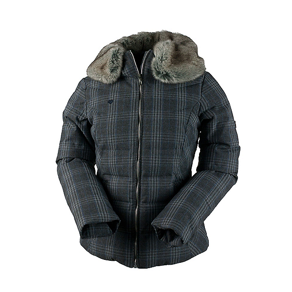 Obermeyer Bombshell SE w/Faux Fur Womens Insulated Ski Jacket, Plaid Heather, 600