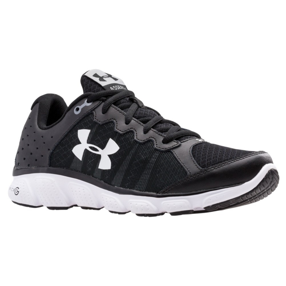 Under Armour Micro G Assert 6 Mens Athletic Shoes, Black-White-White,