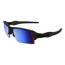 Oakley Flak 2.0 XL Prizm Polarized Sunglasses, Matte Black-Prizm Deep Water Polarized, 256