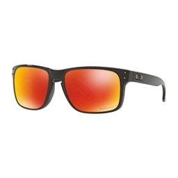 Oakley Holbrook PRIZM Polarized Sunglasses, Polished Black-Prizm Ruby Polarized, 256
