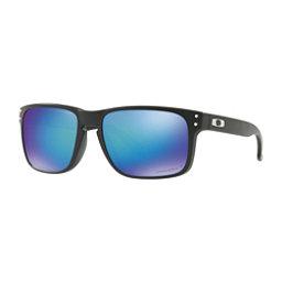 Oakley Holbrook PRIZM Polarized Sunglasses, Matte Black-Prizm Sapphire Polarized, 256