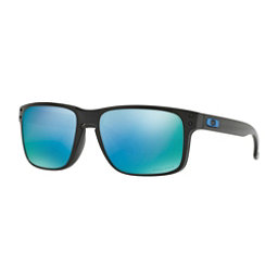 Oakley Holbrook PRIZM Polarized Sunglasses, Polished Black-Prizm Deep Wate, 256