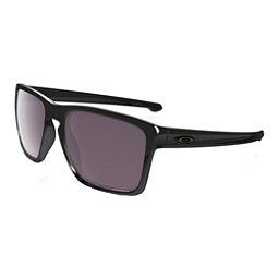 Oakley Silver XL Polarized Sunglasses, Polished Black-Prizm Daily Polarized, 256