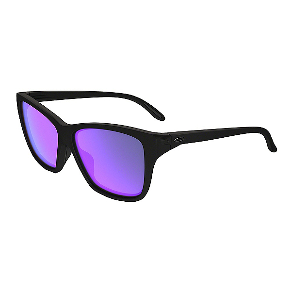 Oakley Hold On Womens Sunglasses, Matte Black-Violet Iridium, 600