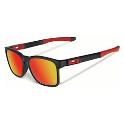 Oakley Catalyst Sunglasses, Matte Black-Ruby Iridium, 256