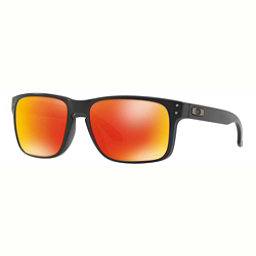 Oakley Holbrook Polarized Sunglasses, Matte Black-Prizm Ruby, 256