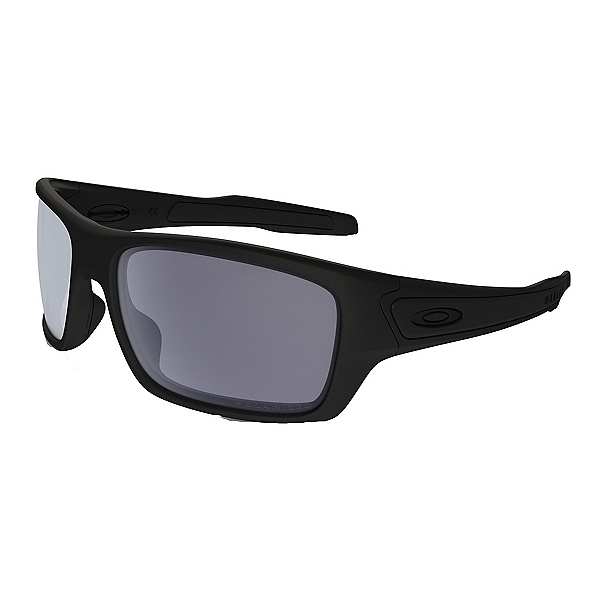Oakley Turbine Polarized Sunglasses, Matte Black-Grey Polarized, 600
