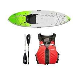 Ocean Kayak Frenzy Kayak Envy Green - Sport Package 2016, Red Black, 256