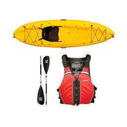 Ocean Kayak Frenzy Kayak Yellow - Sport Package 2016, Red-Black, 256