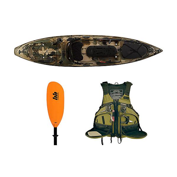 Ocean Kayak Trident 11 Angler Kayak Brown Camo - Deluxe Fishing Package 2016, , 600