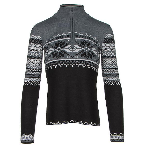 Obermeyer Carla Knit 1/2 Zip Womens Sweater, Black, 600